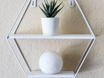 Smart sekskantet hylde til vægophæng